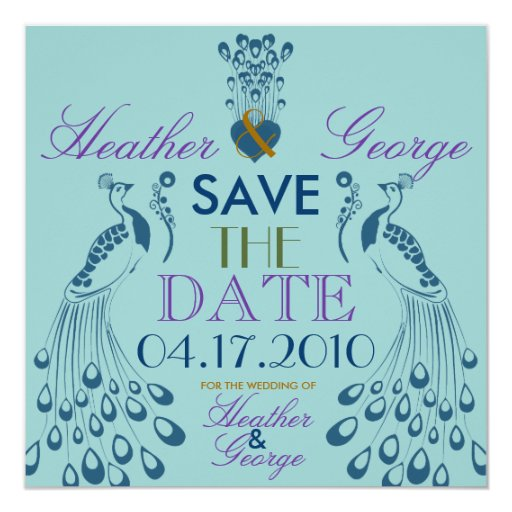 Heathers Save the Date 5.25x5.25 Square Paper Invitation Card