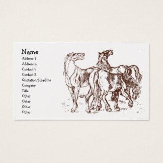 heathershorses, Name, Address 1, Address 2, Con... Business Card