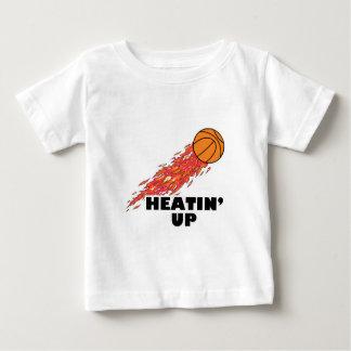 heatin up basketball on fire baby T-Shirt