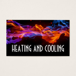 Hvac business cards templates zazzle heating and air conditioning business card colourmoves