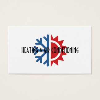Heating and Air Conditioning Business Card