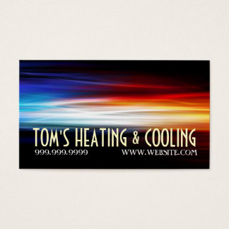 Heating and Air Conditioning Cooling AC Business Card