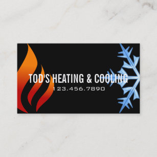 Hvac business cards templates zazzle heating cooling air conditioning hvac business card cheaphphosting Choice Image
