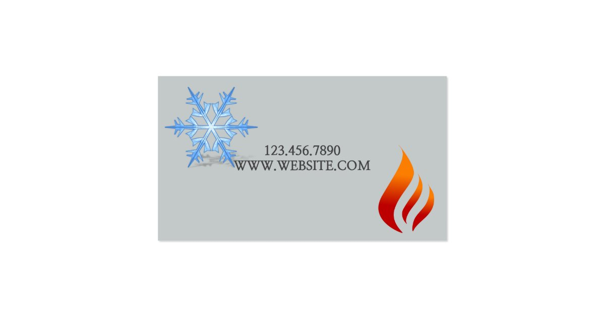 Heating cooling air conditioning hvac business card for Hvac business card template