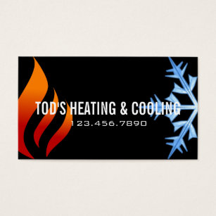 Hvac business cards templates zazzle heating cooling air conditioning hvac business card fbccfo Gallery