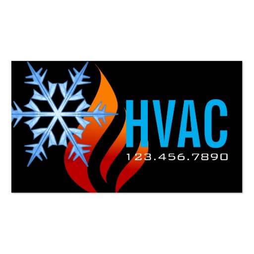 Heating & Cooling Air Conditioning HVAC Double Sided