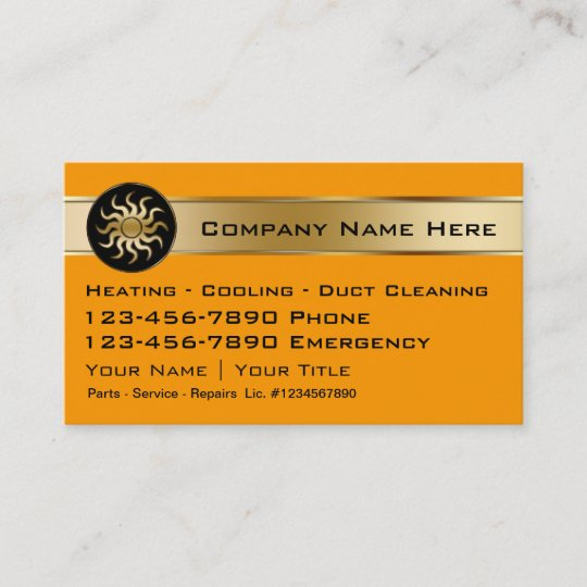 Heating cooling business cards zazzle heating cooling business cards reheart Images