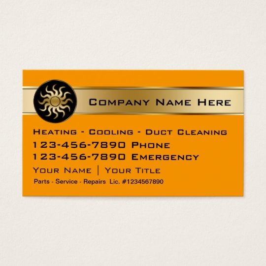 Heating cooling business cards zazzle heating cooling business cards reheart Image collections