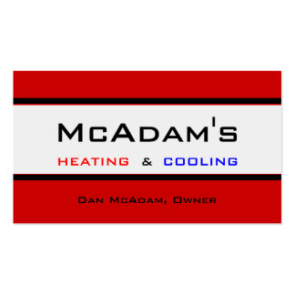 Heating Cooling HVAC Heat Pump Furnace A/C Double-Sided Standard Business Cards (Pack Of 100)