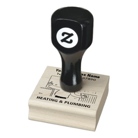 Heating & Plumbing Rubber Stamp