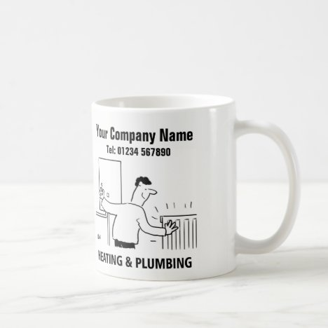 Heating & Plumbing Services Cartoon Mug