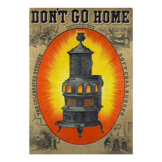 Heating Stove Ad 1874 Poster