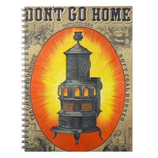 Heating Stove Ad 1874 Spiral Note Books