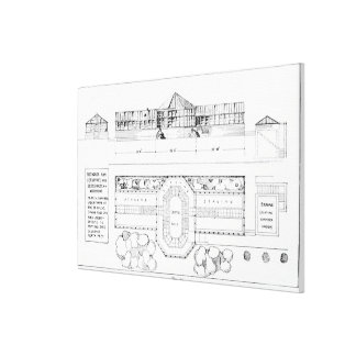 Heating system for a Hothouse, Conservatory and Gr Canvas Print