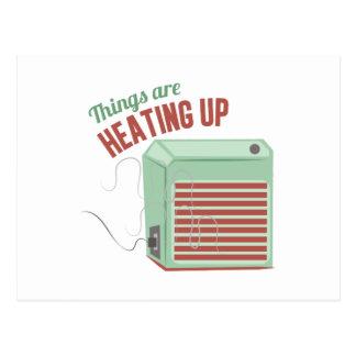 Heating Up Postcard