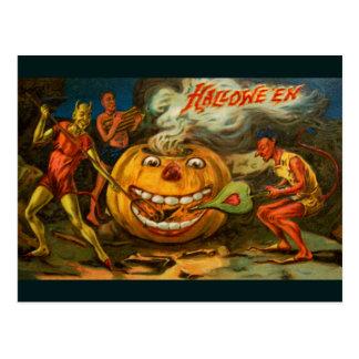 Heating up the Pumpkin Postcard