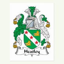 Heatley Family Crest Postcard