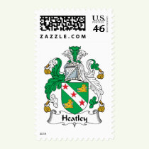 Heatley Family Crest Stamps