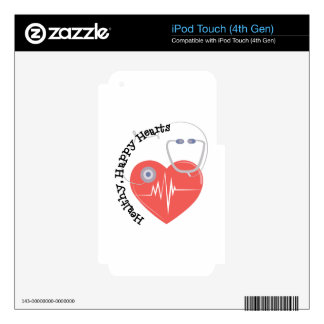 Heatlty Hearts Skins For iPod Touch 4G