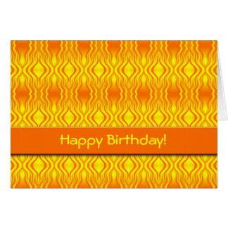 Heatwaves Orange Yellow Abstract Card