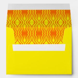 Heatwaves Orange Yellow Abstract Envelope