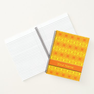 Beach Themed Heatwaves Orange Yellow Abstract Notebook