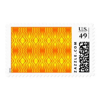 Heatwaves Orange Yellow Abstract Postage Stamp