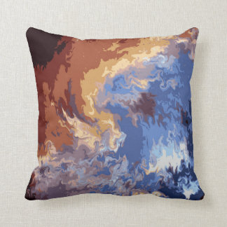 Heaven and Earth abstract Polyester Throw Pillow