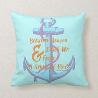 Heaven and Earth Anchor Throw Pillow