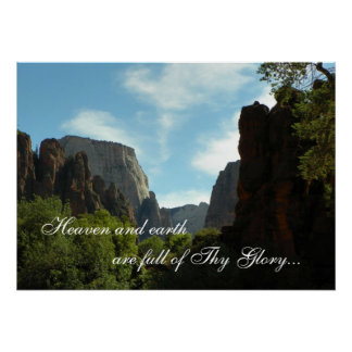 Heaven and earth are full of Thy Glory Poster