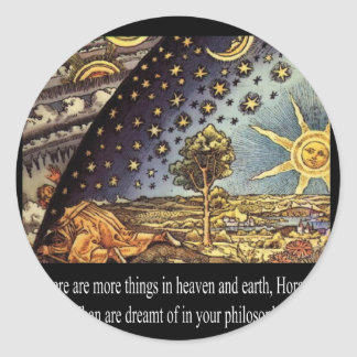 Heaven and Earth Classic Round Sticker