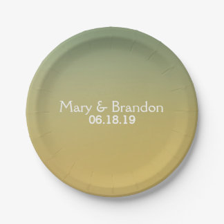 Heaven and Earth Watercolor Wedding Paper Plate