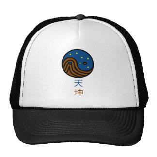 Heaven and Earth - Yin / Yang / Tao / Taoism Mesh Hats