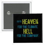 Heaven and hell 2 inch square button