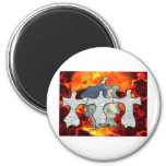 Heaven And Hell Refrigerator Magnet