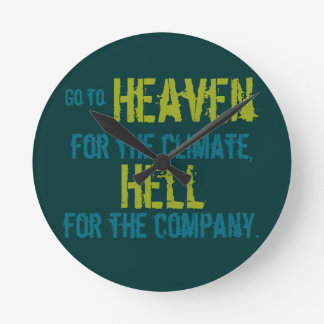 Heaven and hell round clock