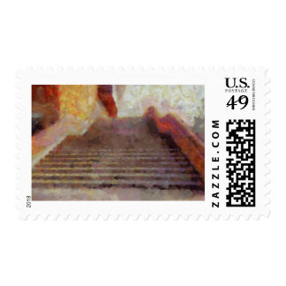 Heaven and hell together postage stamp