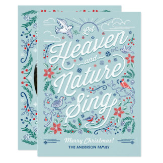 Heaven and Nature Sing Christmas Card 2