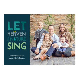 Heaven and Nature Sing Christmas Photo Card