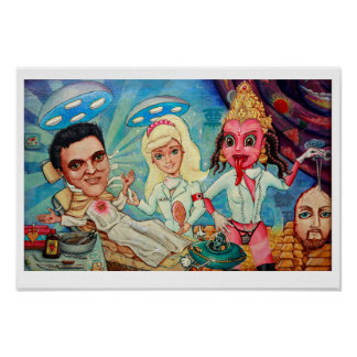 'Heaven' art print - (pop surreal art)