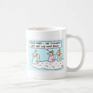 heaven bald angels hair back coffee mug