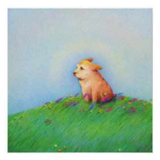 Heaven - beautiful puppy dog Spring morning Custom Announcements
