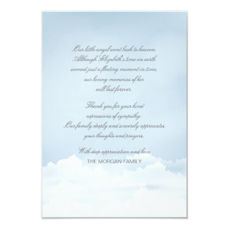 Heaven Bereavement Thank You Card