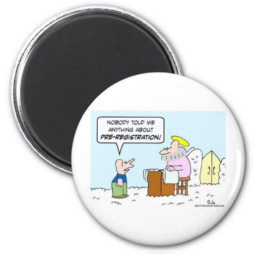heaven christianity saint peter pre-registration magnet