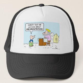 heaven christianity saint peter pre-registration trucker hat