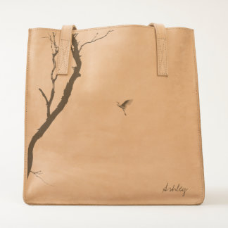 Heaven & Earth/ Bird Flying to a Tree Personalized Tote
