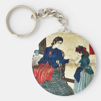 Heaven forsakes no honest man by s.n., Ukiyoe Keychains