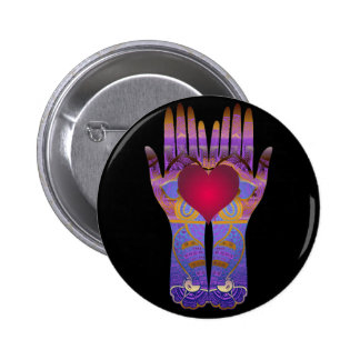 Heaven Hands Dark Button