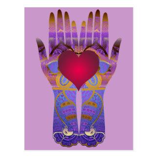 Heaven Hands Postcard