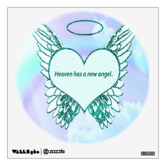 Heaven has a New Angel Wall Sticker